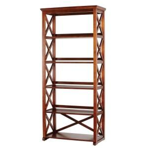 Home Decorators Collection Brexley Chestnut 5 Shelf Bookcase An X5sb At The