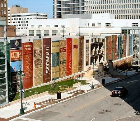 Awesome Creative Parking Garage Of The Kansas City Public Library Looks Like A Giant  Bookshelf Filled With Design