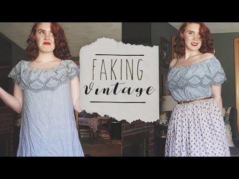 Quot Faking Quot Vintage Making Modern Look Retro Ft Romwe Shein Amp Target Youtube Fashion Edwardian Fashion Light Blue Dresses