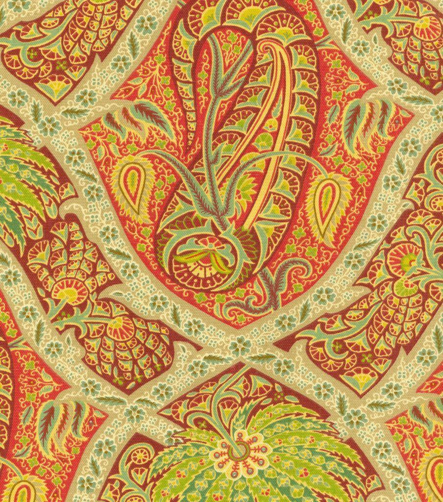 Home Decor Print Fabric- Tommy Bahama Polynesian Paisley/Bonfire ...