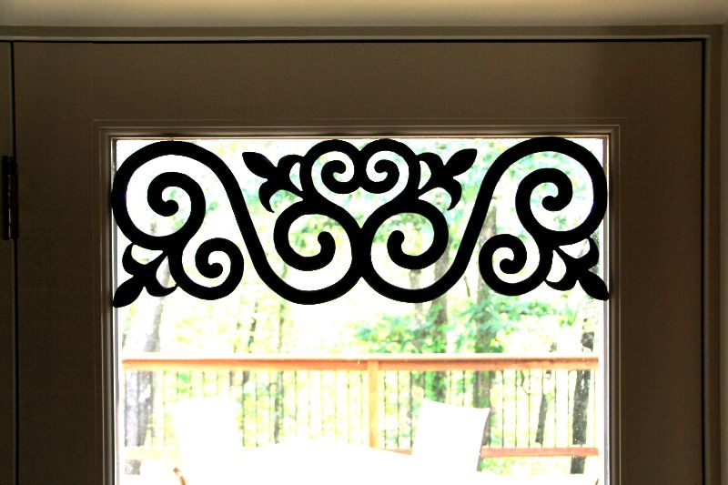 These 8 3 4 X 25 1 2 Decorative Carved Faux Wrought Iron Pieces