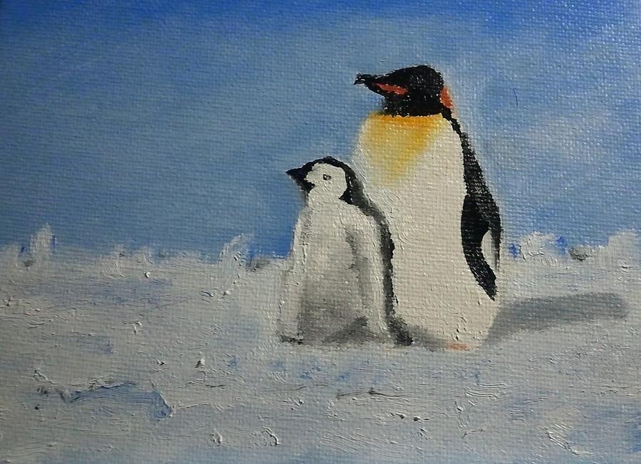 пингвины на картинах художников данная помесь требовательна