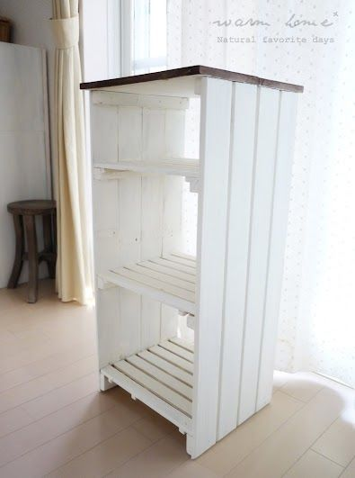 すのこの棚をリメイク Warm Home インテリア 収納 狭いキッチン 収納 収納棚の作り方