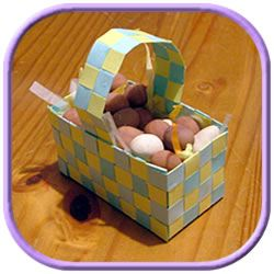 A paper woven easter basket directions included on this web site easter basket ideas how to make homemade baskets from colored card all of my craft ideas have step by step instructions and photos negle Images