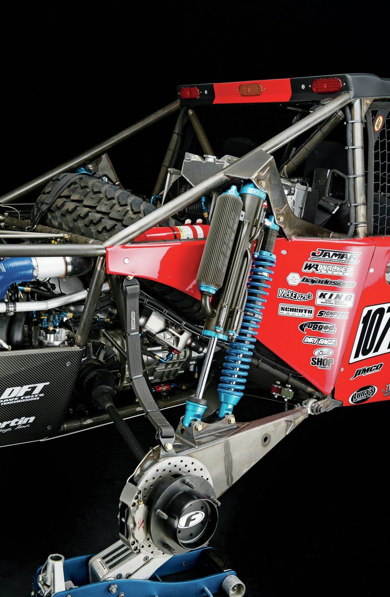 Rear King Coilover And Bypass Shock Trophy truck, Race