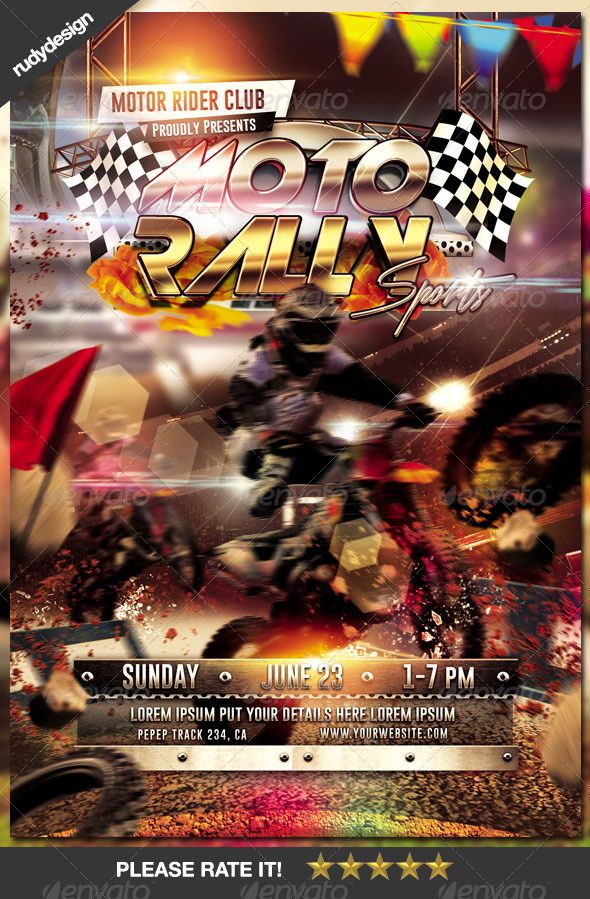 Motocross Rally Flyer Design Print Templates Template And Flyer - Buy flyer templates