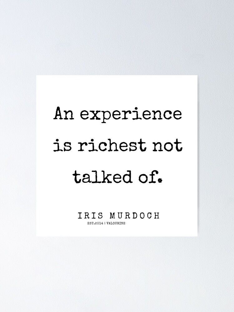 58  | 200422 | Iris Murdoch Quotes  Poster by QuotesGalore