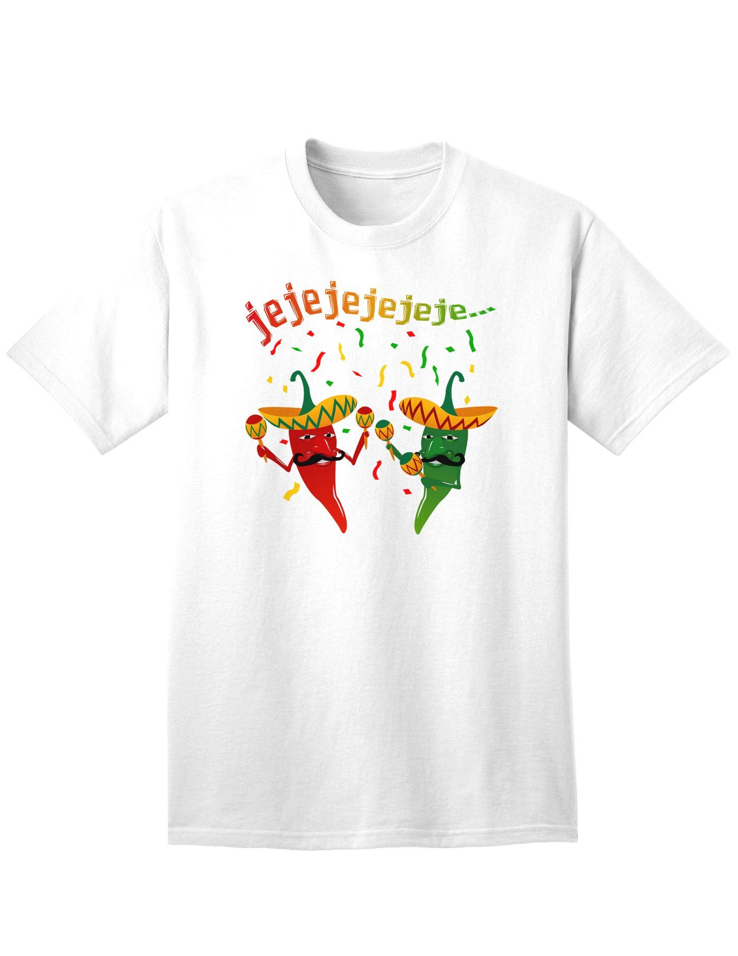 Jejeje Mexican Chili Peppers Adult T-Shirt