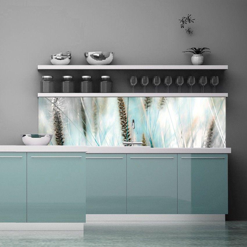 KÜCHENRÜCKWAND Cleaning Pipes, Schwarz Weiß Türkis turquoise