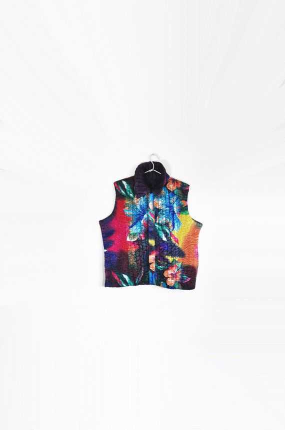 Reversible Tropic Vest L by VOMITCLOSET on Etsy