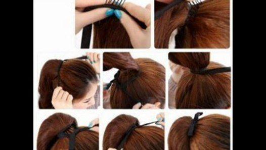 Cheap Long Wavy Curly Ponytail Pony Dark Brown Wig Hair Piece Extensions 45cm Under25dollarsu... #27piecehairstyles