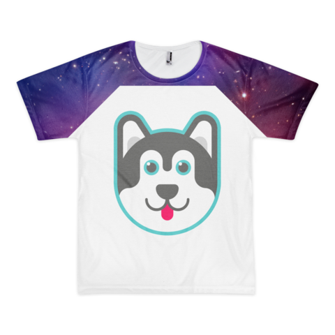 The Galaxy T Shirt Galaxy T Shirt Wolf T Shirt Men Short Sleeve