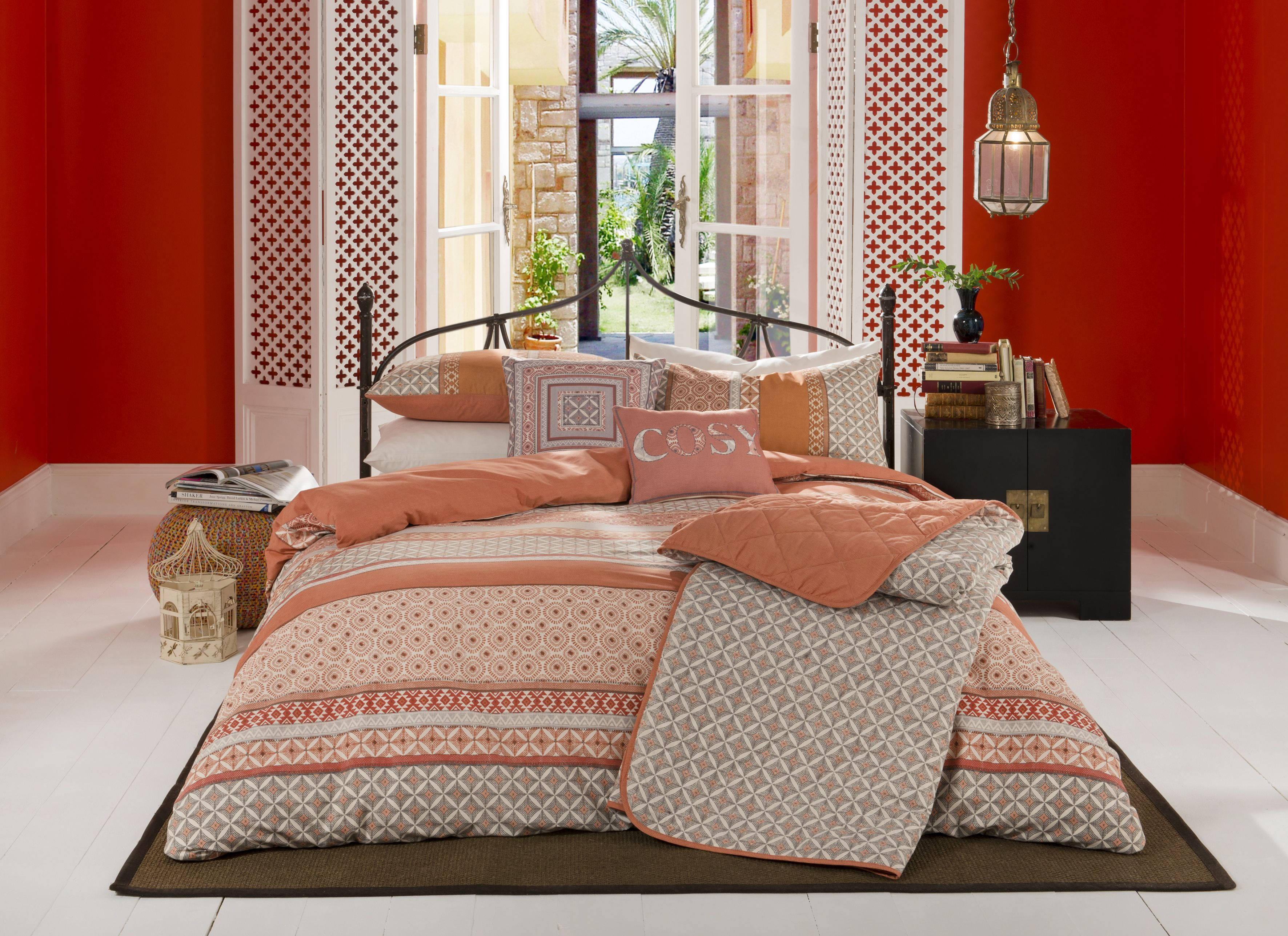 moroccan style bedding set  duvet cover sets bed styling