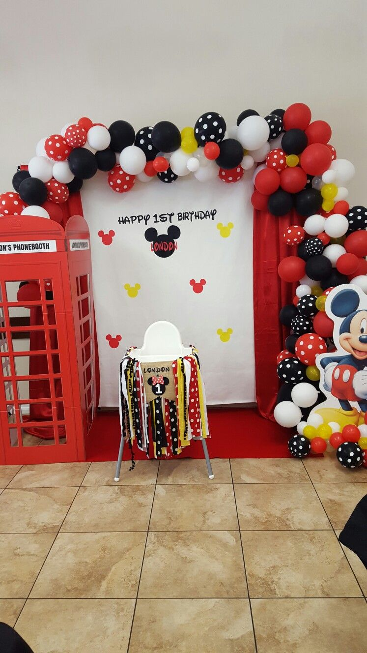 Mickey Mouse Minnie Mouse Photo Booth Backdrop Minnie Mouse