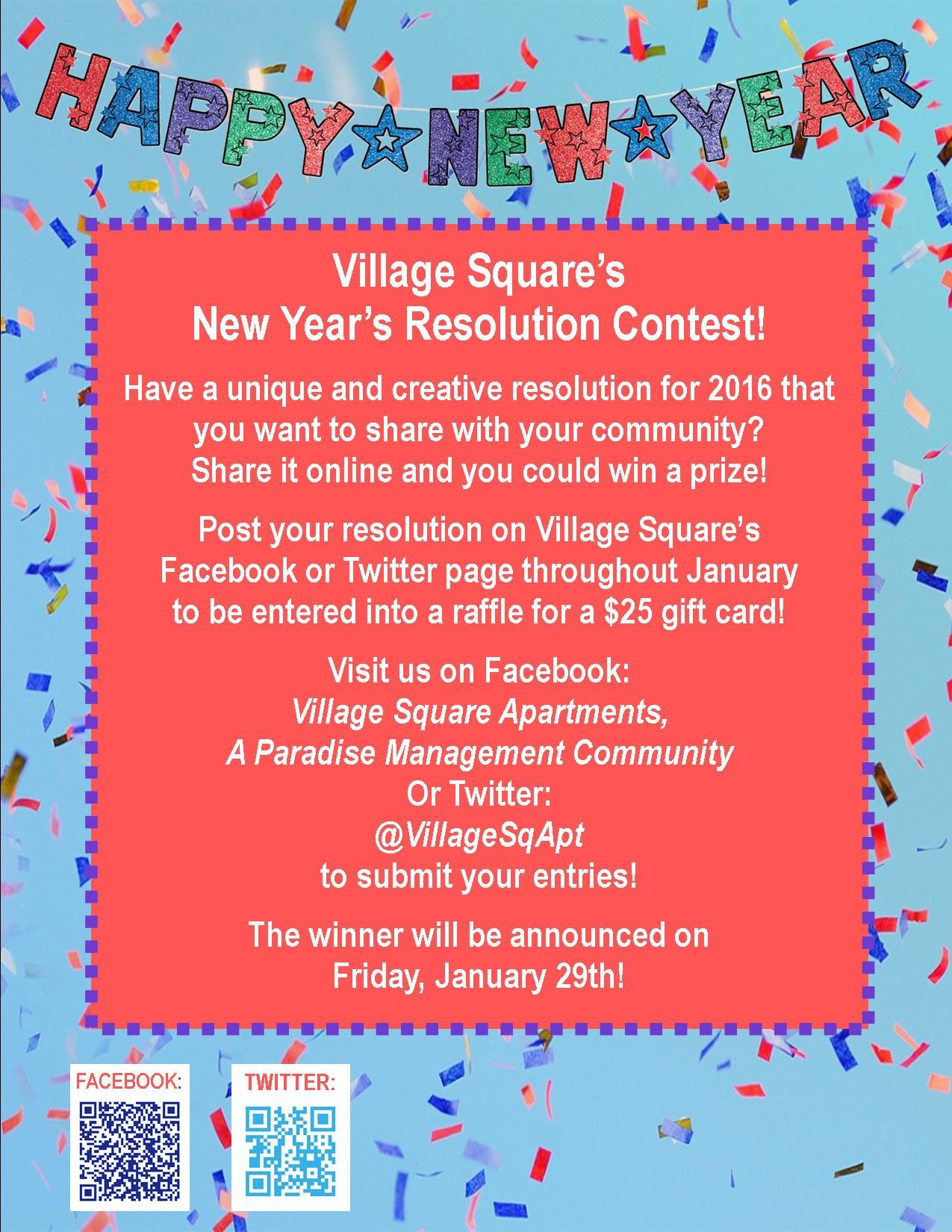 Pin by Village Square Apartments on Resident Events | Pinterest