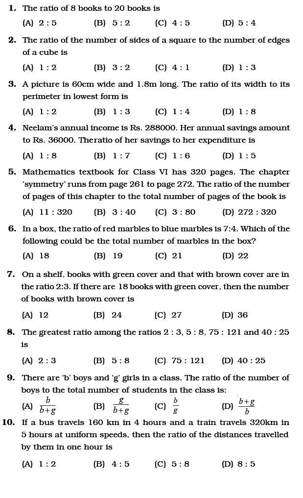 30 Ratio and Proportion Word Problems for Class 6 in 2020