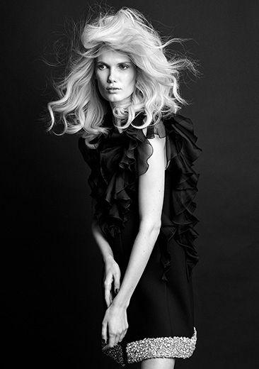 Yulia Terenti by Kristian Schuller for ICON Magazine December 2015 - Giambattista Valli Fall 2015 Haute Couture