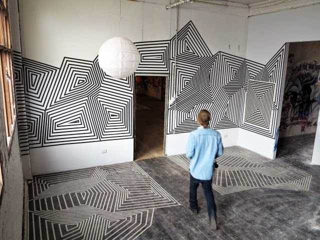 Creating Artistic Design And Drawings With Masking Tape Tape Wall Art Masking Tape Art Tape Art