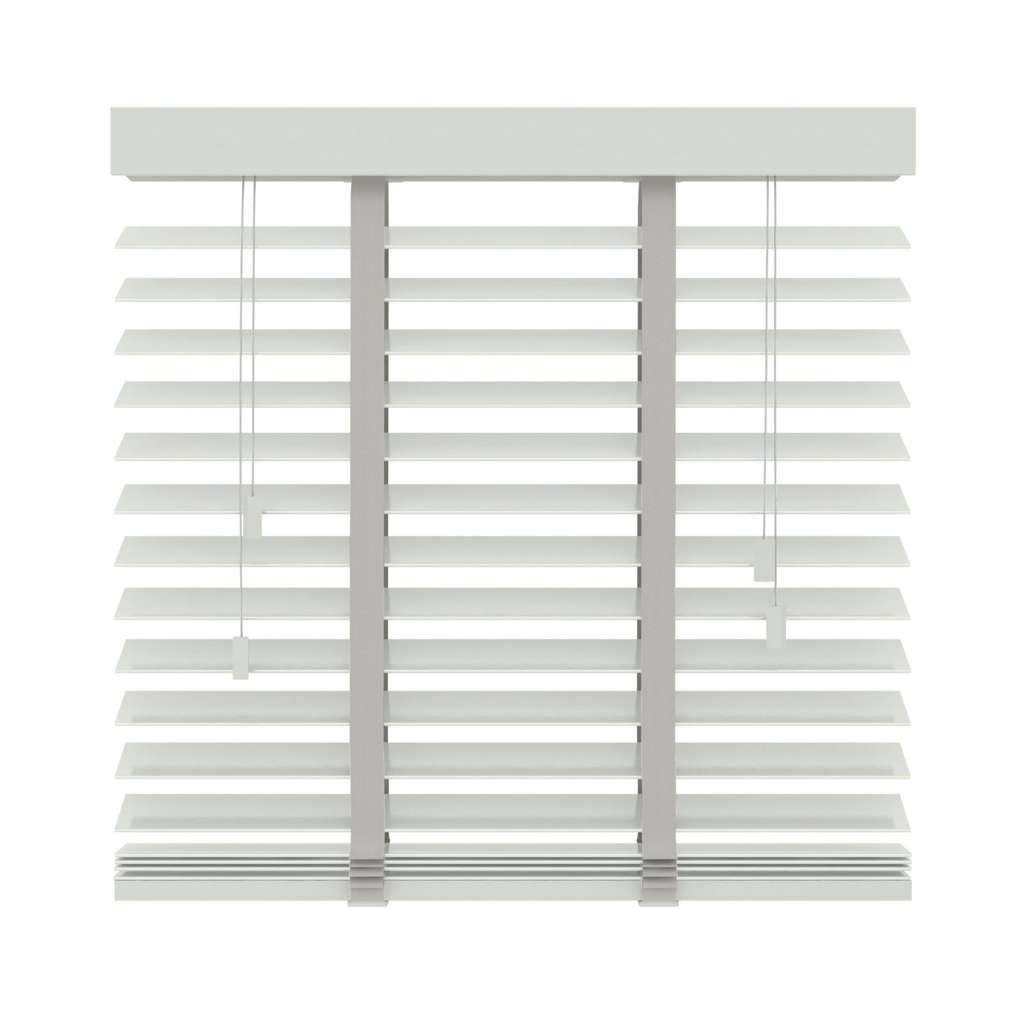 Shutters Woonkamer Gamma Gamma Horizontale Jaloezie Hout 50 Mm 944 Wit 220x220 Cm