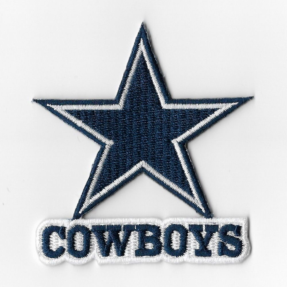 Nfl Dallas Cowboys Pink Iron On Patch Embroidered Sew Applique
