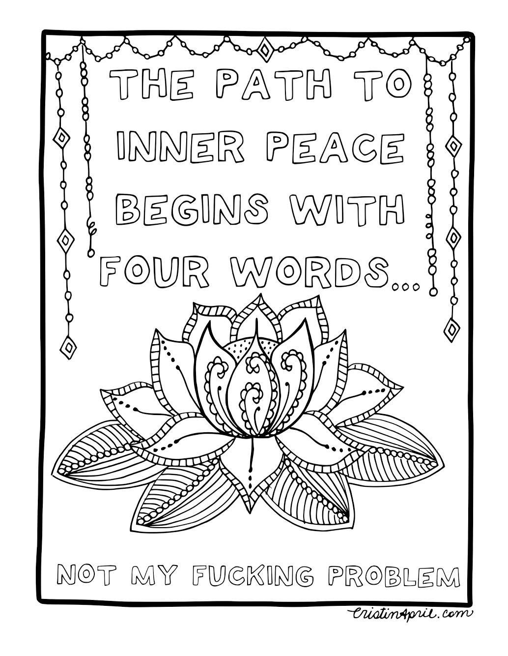 Adult Coloring Pages Printable Coloring Book Curse Word
