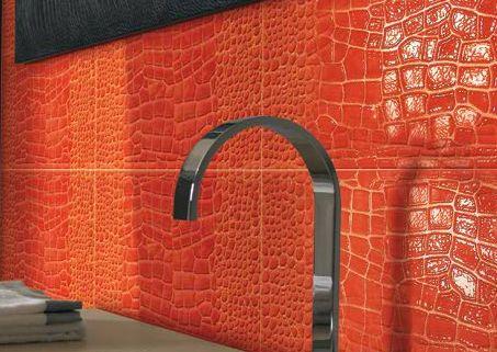 Charming Savana   Crocodile Ceramic Tile In Orange   Available Through Petraceru0027s  Ceramics. Featured As One Design
