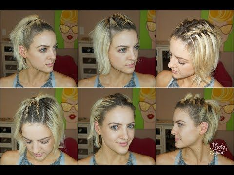 7 Easy Gym Workout Short Hairstyles Tutorial Milabu Short Hair Tutorial Hair Tutorial Hair Styles