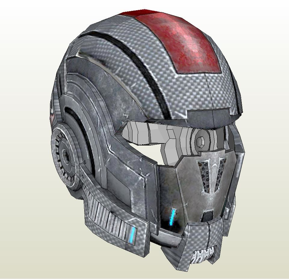 Papercraft .pdo file template for Mass Effect -N7 Full Armor Male + ...