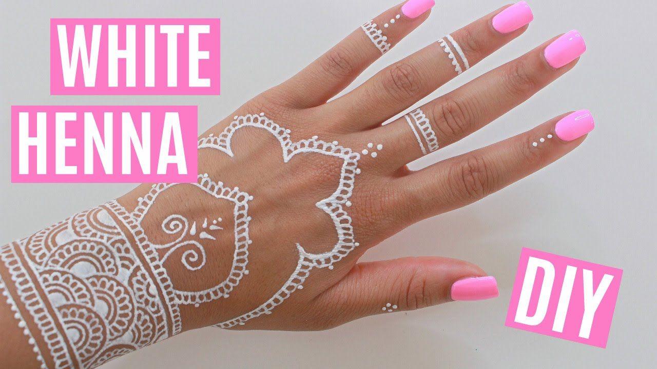 DIY White Henna   Henna tattoo diy Diy henna White henna ...