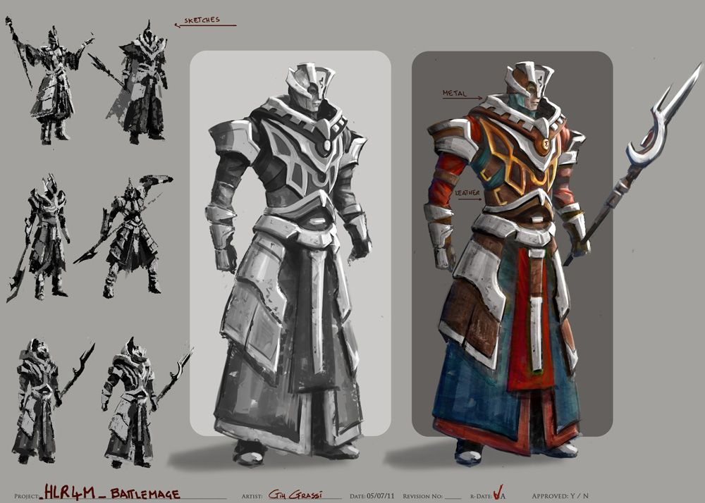 battle mage concept art - Google Search