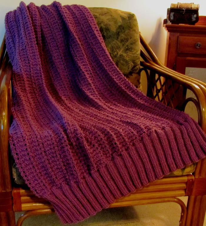 Marian\' Easy Knit Afghan | Knitted afghans, Afghan patterns and Afghans