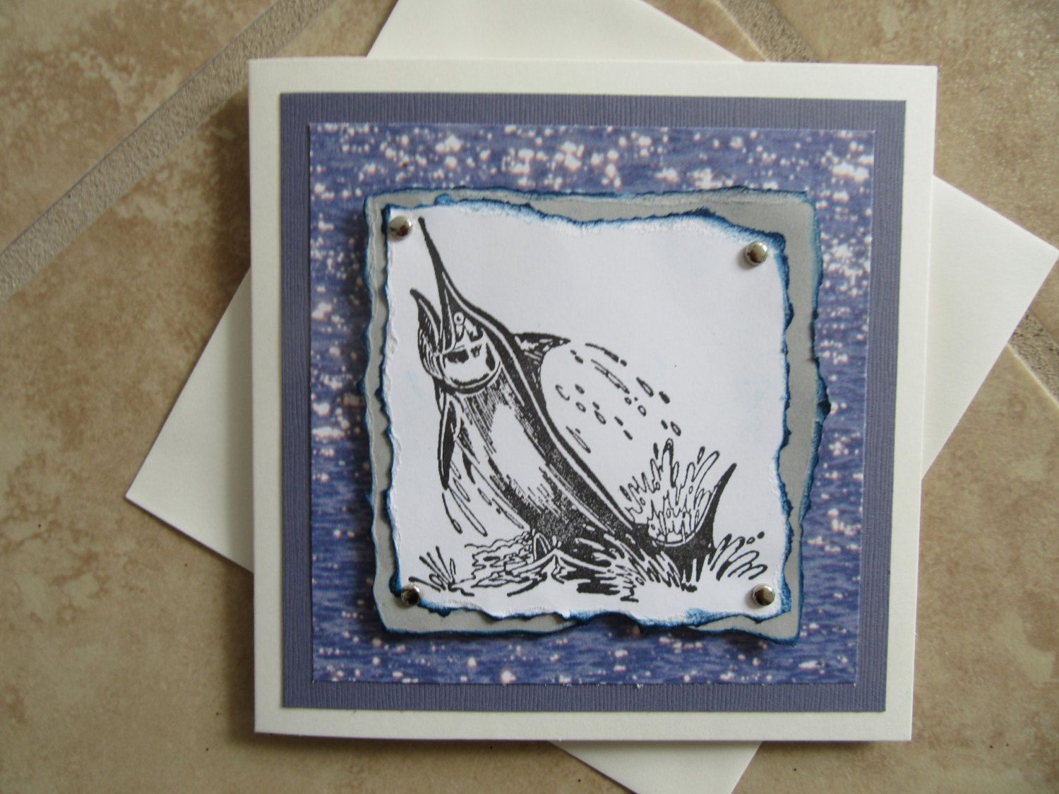 All occasion marlin fish greeting card by patspapercrafts on etsy all occasion marlin fish greeting card by patspapercrafts on etsy kristyandbryce Choice Image