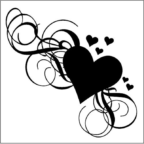Clip Hearts White Google And Small Flowers And Art Black