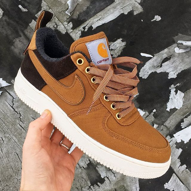 premium selection b3331 0fa41 Select sizes are still available in the CARHARTT WIP X NIKE AIR FORCE 1 LOW  PRM