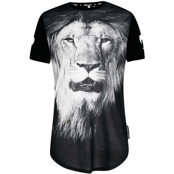 Criminal Damage Black T-Shirt* - Men's Tops - Clothing - TOPMAN ($48) ❤ liked on Polyvore featuring mens, men's clothing, men's shirts and men's t-shirts