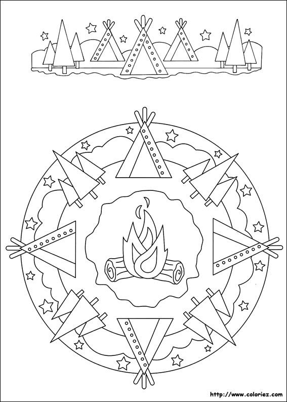 Mandala Tipi Kipa Ausmalbilder Coloring Pages Mandala Und