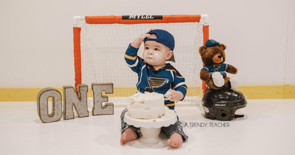 Welcome To The Little Corner Of My Blog Where I Step Away From Teacher Mode And Talk Ab Hockey Birthday Hockey Birthday Parties Boys First Birthday Party Ideas