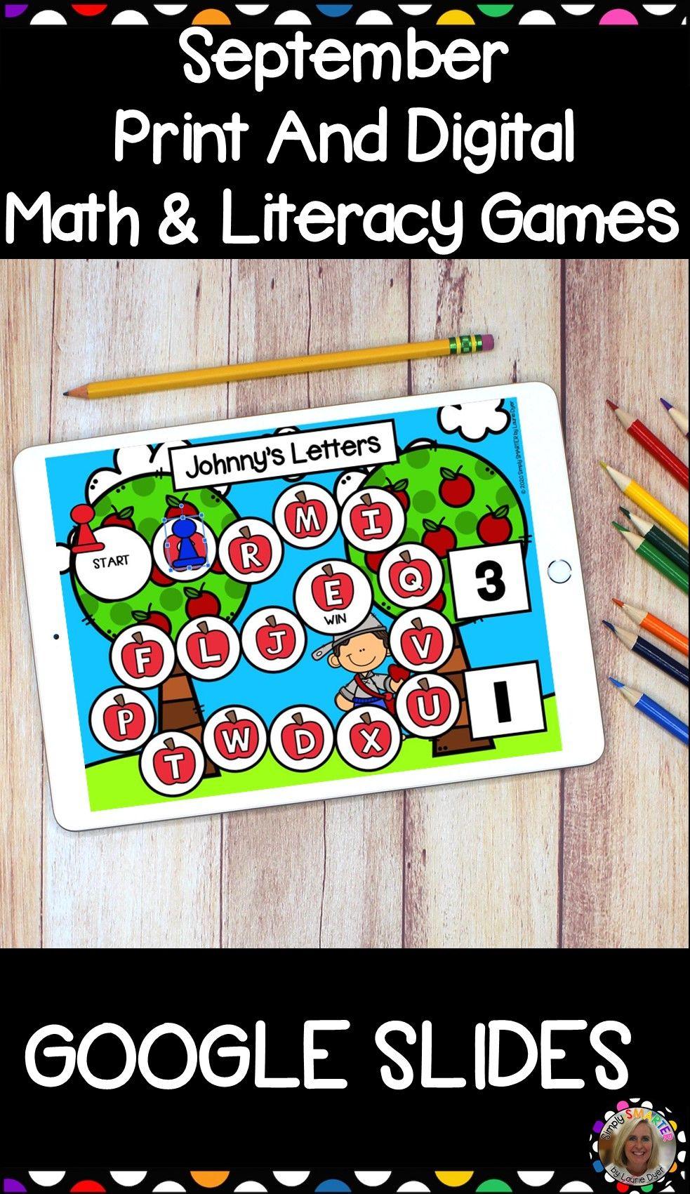 September Math And Literacy Print And Digital Games For Google Slides Math Math Facts Tpt Math [ 1701 x 983 Pixel ]