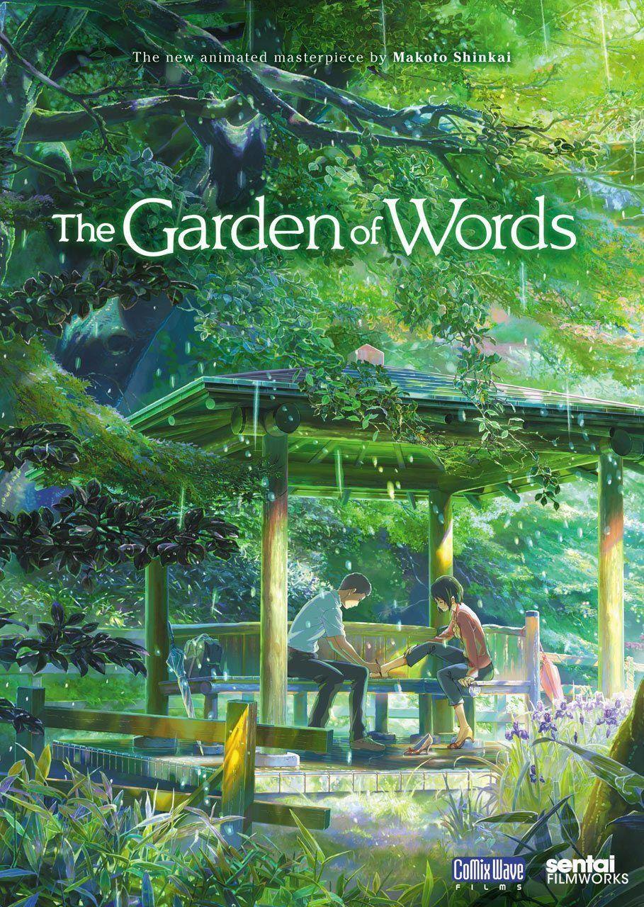 El Jardin De Las Palabras De Makoto Shinkai Contara Con Una Obra Teatral Peliculas De Animacion Jardin De Las Palabras Mejores Peliculas De Anime