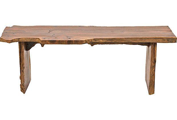 Natural Wood-Plank Bench