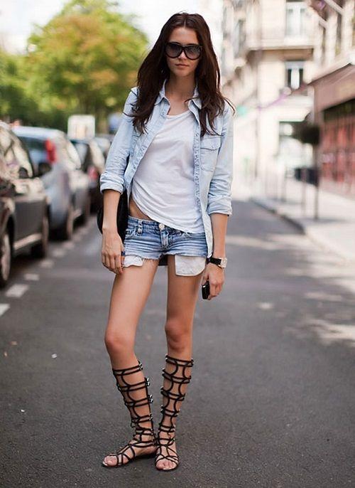 Mit was Shorts zu tragen, Fotos von stilvollen Straßenbildern