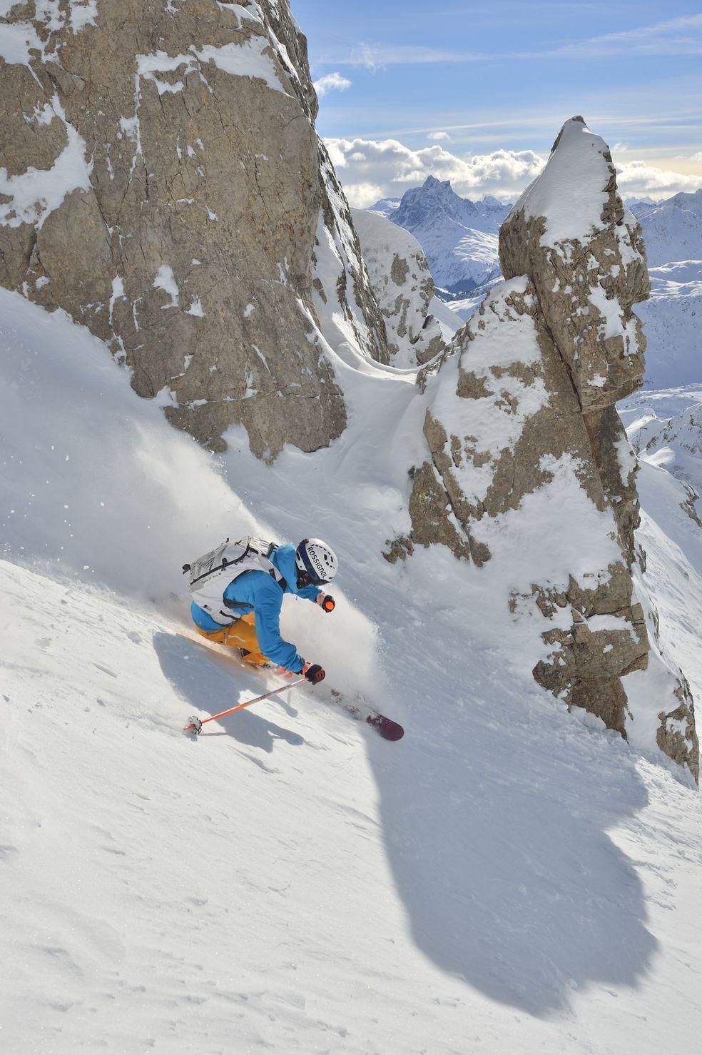 Freeride ski - freeskiing in St. Anton am Arlberg, Austria