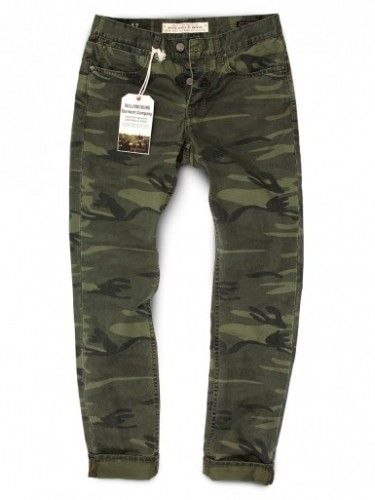 FOREST CAMOUFLAGE SLIM JEAN-CUT PANTS - GRAND ST from Williamsburg $55 (50% off)
