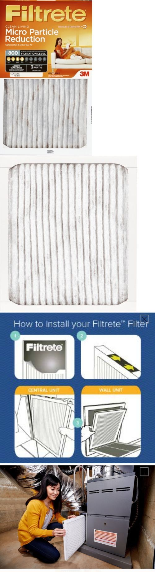 Air Filters 43509 3M Filtrete Micro Particle Reduction