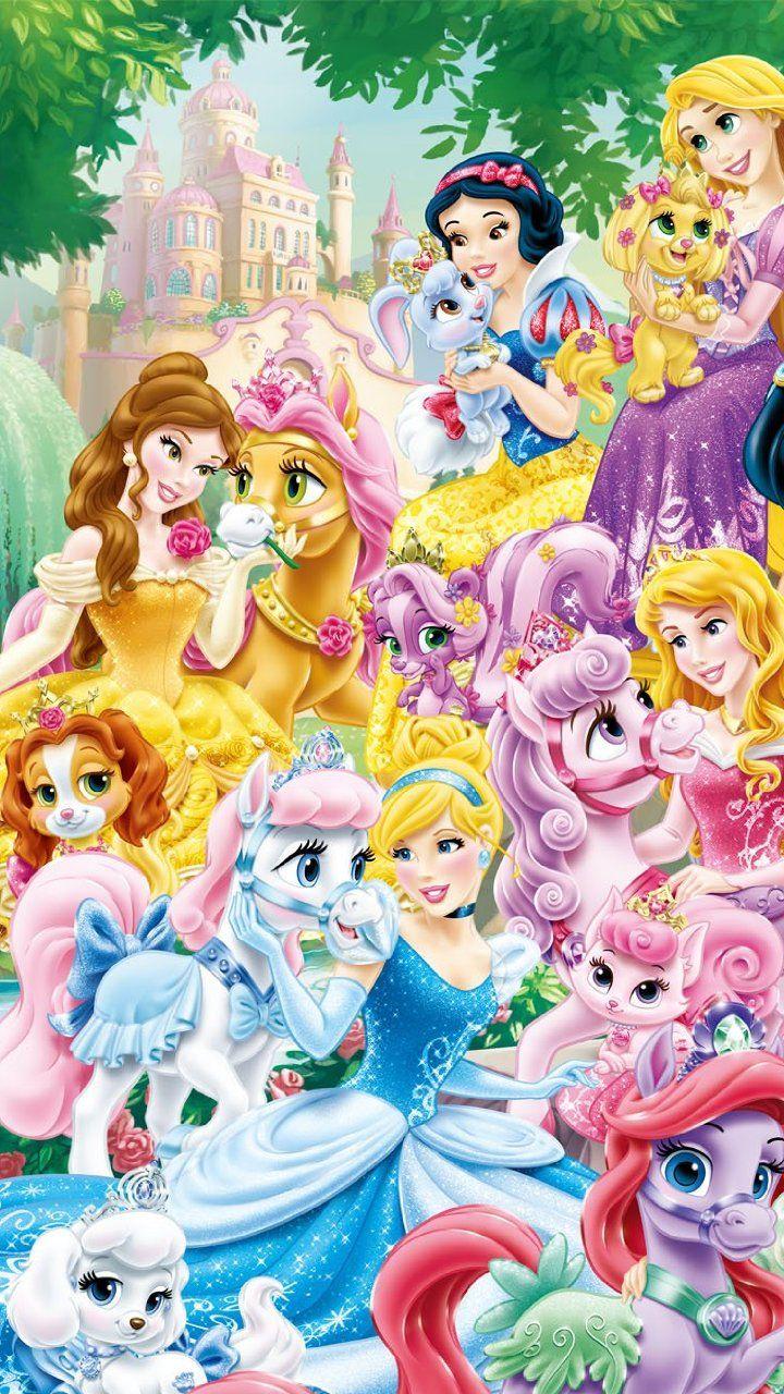 ディズニー プリンセス With ロイヤルペット イラスト Disney