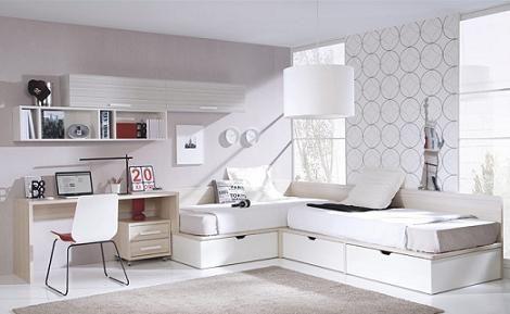 habitacion-juvenil-blanca | cuartos | Pinterest | Habitación juvenil ...