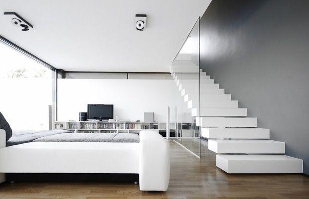 Trap met glazen wand google zoeken stairs ladder
