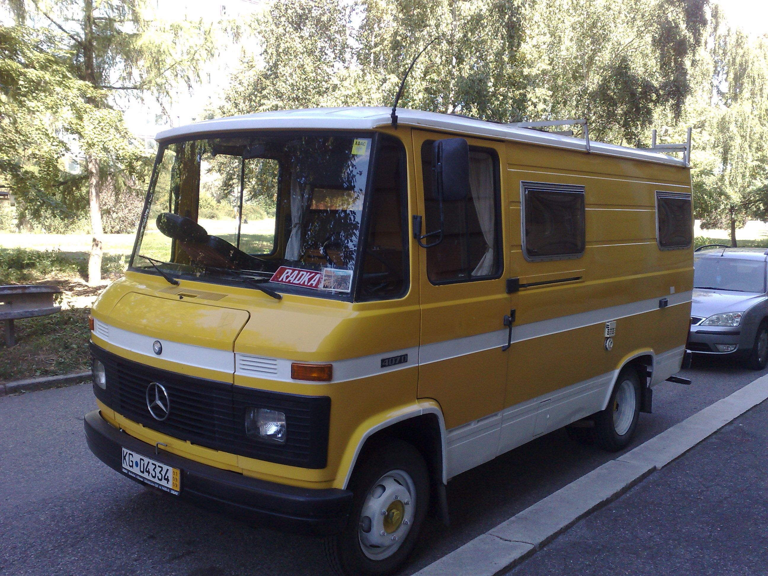 Mercedes Benz 407D Camper MERCEDES Pinterest