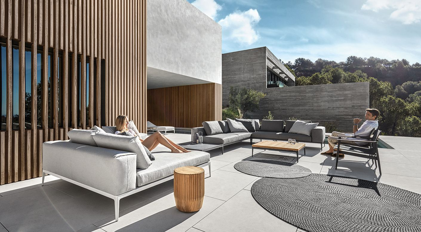 Gloster Grid Collection Modern Luxury Outdoor Furniture Gloster Luxury Outdoor Furniture Poolside Furniture Gloster Outdoor Furniture