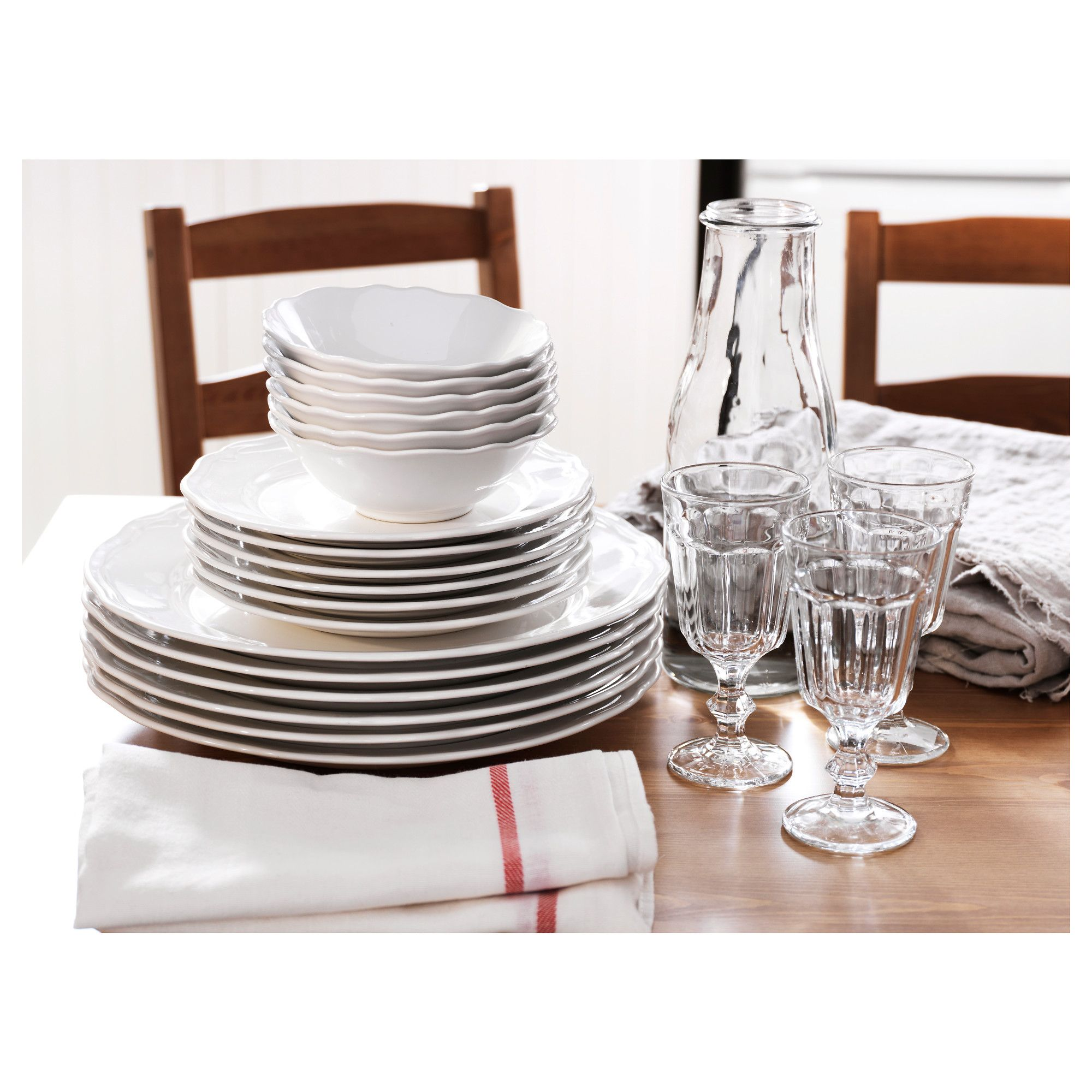 Arv 18 Piece Dinnerware Set White